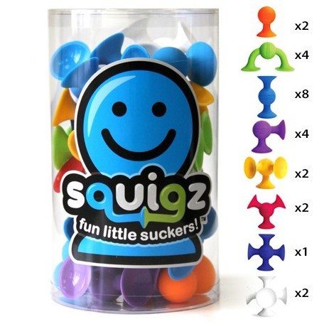Ensemble de Ventouses - Squigz - Fat Brain Toys Fat Brain Toy
