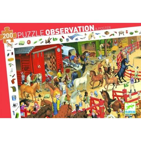 Puzzle d'Observation Equitation 200 pièces - Djeco Djeco