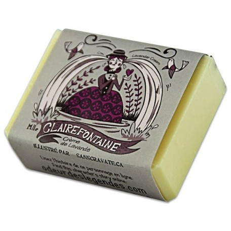 Cream Soap Miss Claire Fontaine, Lavender - Savonnerie des Diligences