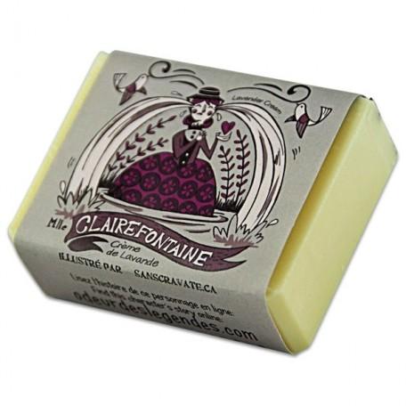 Savon Crème Demoiselle Claire Fontaine, Lavande - Savonnerie des Diligences