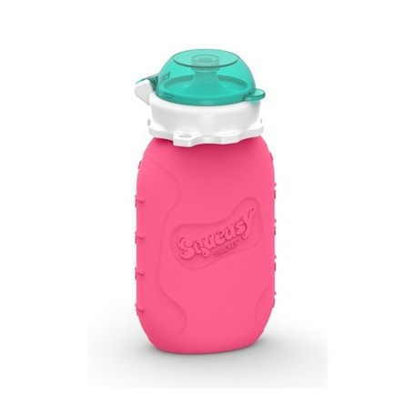 Pink - Reusable Food Pouch 6oz - Squeasy