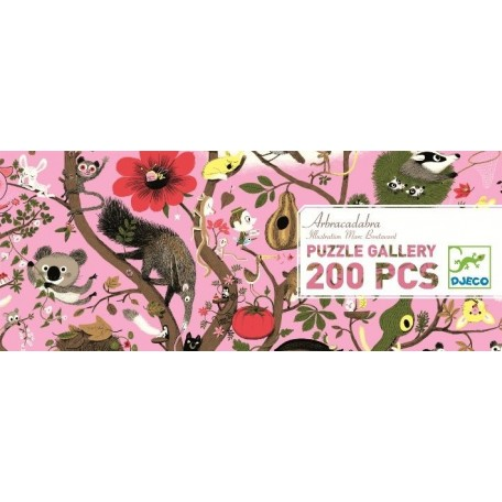 Puzzle Gallery Arbracadabra 200 morceaux - Djeco Djeco