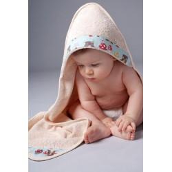 Serviette à capuchon pour bébé, Oko