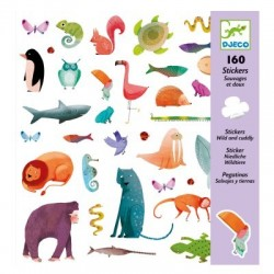 160 stickers animaux, Djeco