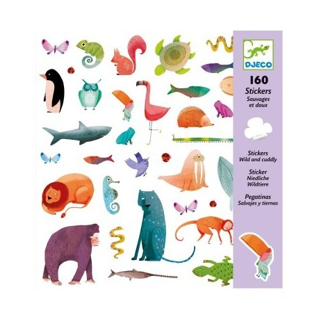 160 stickers animals, Djeco