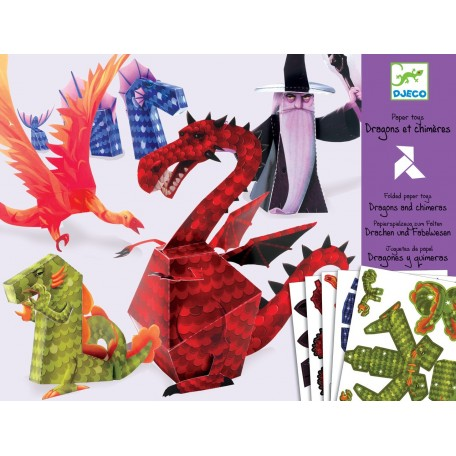 Pliage de Papier Dragon - Djeco