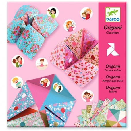 Initiation à l'Origami Cocotte Rose - Djeco