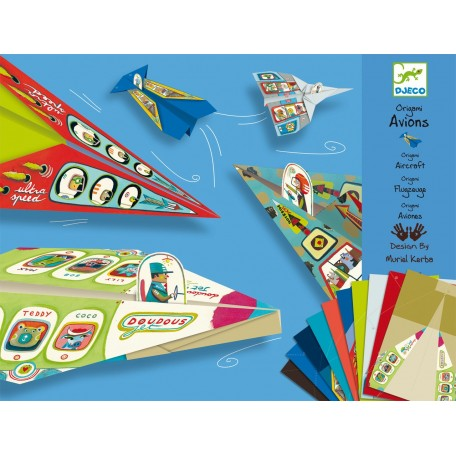 Initiation àl'Origami Avions - Djeco Djeco