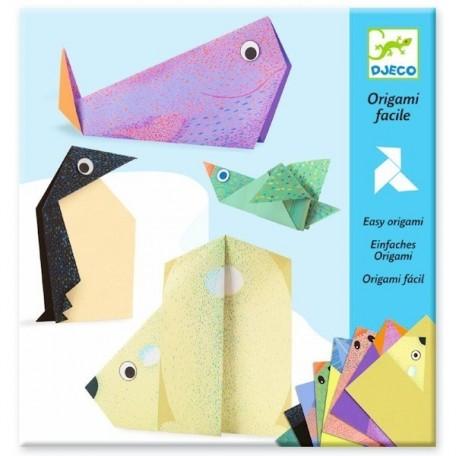 Origami Facile Animaux Polaires, Djeco Djeco
