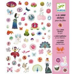 + de 1000 Stickers pour fille, Djeco