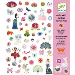 Over 1000 Stickers for girls, Djeco