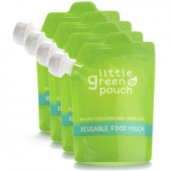 Kit of 4 reusable food pouches 7 oz- Little Green Pouch