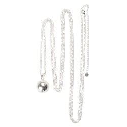 Silver chain for bola - Babylonia - A bola and its chain