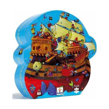 Barbarossa's Boat Puzzle 54 pieces - Djeco - Box