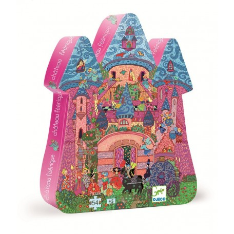 The fairy castle Puzzle 54 pieces - Djeco - Box