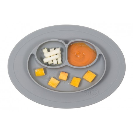 Placemat and plate in one - The Mini Mat EZPZ - Grey