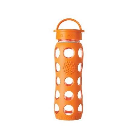 Glass Bottle 22 oz - Life Factory - Orange