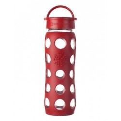 Glass Bottle 22 oz - Life Factory - Red