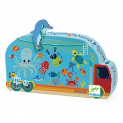 Tiny Puzzle The Aquarium 16 pieces - Djeco - Box