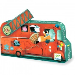 Tiny Puzzle The Fire Truck 16 pieces - Djeco - Box