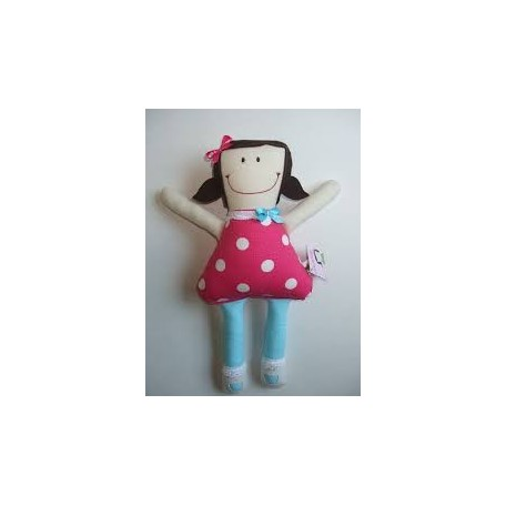 Doll Gamine Tall Model - GAMINE & CIE - Blue tights with white dots
