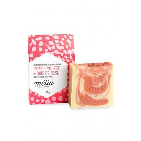 Savon Artisanal Mélia Pamplemousse + Bois de rose - Miels d'Anicet Miels D'Anicet