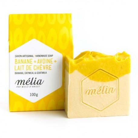 Handmade Soap Mélia Banana + Oatmeal + Goatmilk - Miels D'Anicet