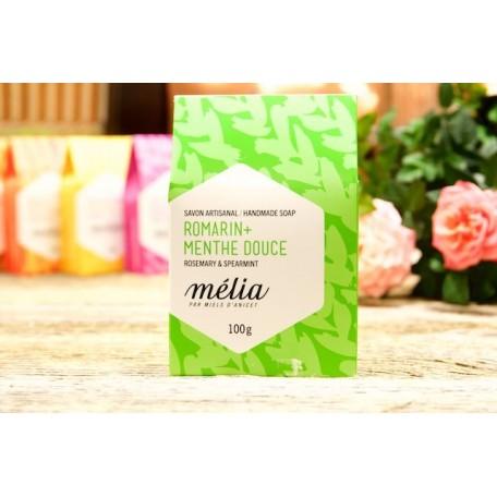 Handmade Soap Mélia Rosemary + Spearmint - Miels D'Anicet