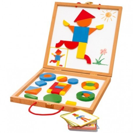 Magnetic's Geoforme - Djeco - A fun briefcase