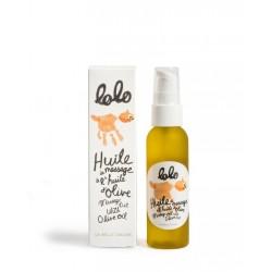 Huile de massage à l'huile d'olive - Lolo Lolo et moi