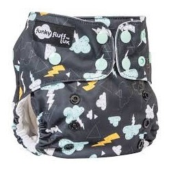 Couche lavable Jersey Stay Dry À motifs - Funky Fluff - Orages