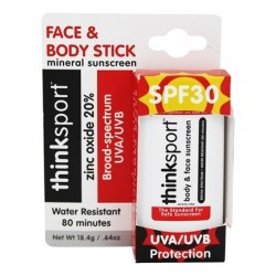Natural Sunscreen Face & Body Stick - Thinksport - In its box