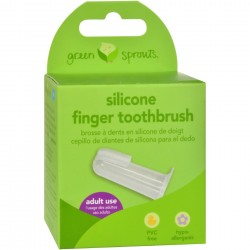 Silicone Finger Toothbrush - Green Sprouts - Box