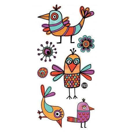 Temporary Tattoo Funny Birds - Pico