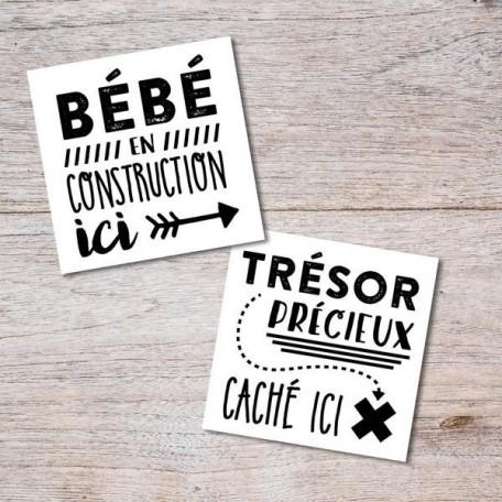 Tatouages temporaires Bébé en construction - Pico Pico