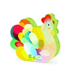 Raoul the Hen Puzzle 36 pieces - Djeco - Box