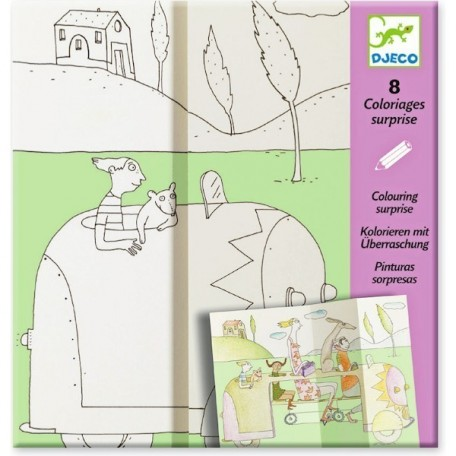 Hide and Seek Coloring Surprise - Djeco