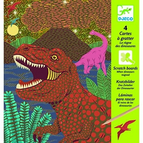 When Dinosaures Reigned Scratch Boards - Djeco