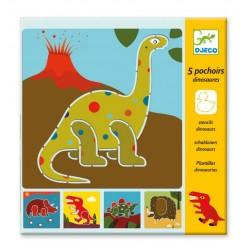 Dinosaurs Stencils - Djeco