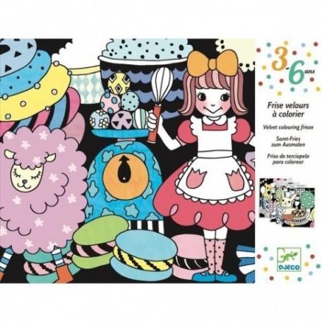 Sweet Parade Velvet Coloring Frieze - Djeco