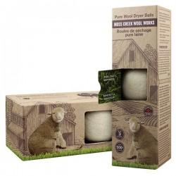 Boules de séchage pure laine - Moss Creek Wool Works - Boîte