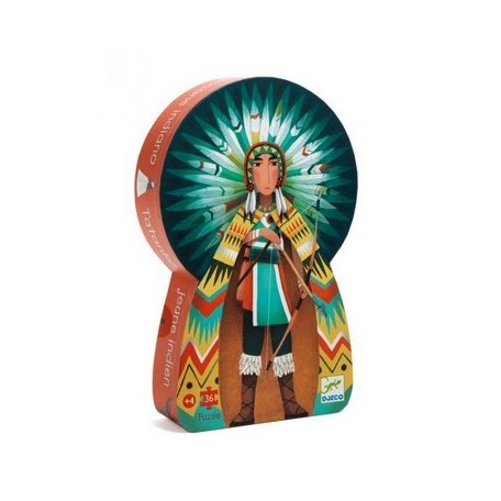 Tatanka, young Indian Puzzle 36 pieces - Djeco - Box