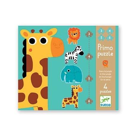 Primo Puzzle Dans la Jungle - Djeco Djeco