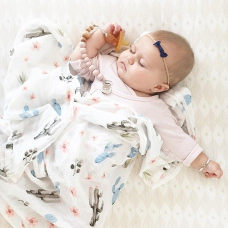 Bamboo Muslin Swaddle Cactus Floral - Loulou Lollipop