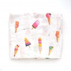 Bamboo Muslin Swaddle Ice Cream Social - Loulou Lollipop