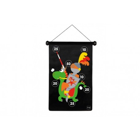 Green Dragon and Knight Magnetic Dartboard - Scratch