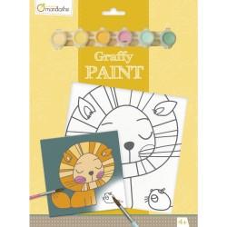 Ensemble de peinture Graffy Paint Lion - Avenue Mandarine Avenue Mandarine