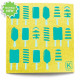 Large Reusable Patterned Paper Towel - Kliin - Yellow Popsicle