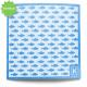 Large Reusable Patterned Paper Towel - Kliin - Blue fish