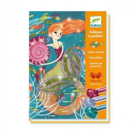 Mermaid Lights Glitter Boards - Djeco